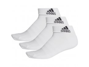 Ponožky Adidas Cushlined Ankle 3PP biele DZ9365