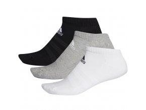 Ponožky Adidas Cushlined Low 3PP biele, čierne, sivé DZ9383