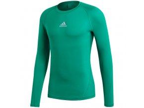 Pánske tričko Adidas Alphaskin Sport LS Tee green CW9504