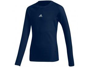 Adidas Alphaskin Sport LS Tee JUNIOR námornícka modrá CW7322