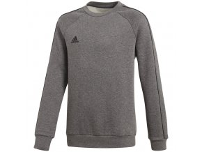 Mikina Adidas Core 18 Sweat Top JUNIOR pre deti šedá CV3969
