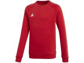 Mikina pre deti adidas Core 18 Sweat Top JUNIOR červená CV3970
