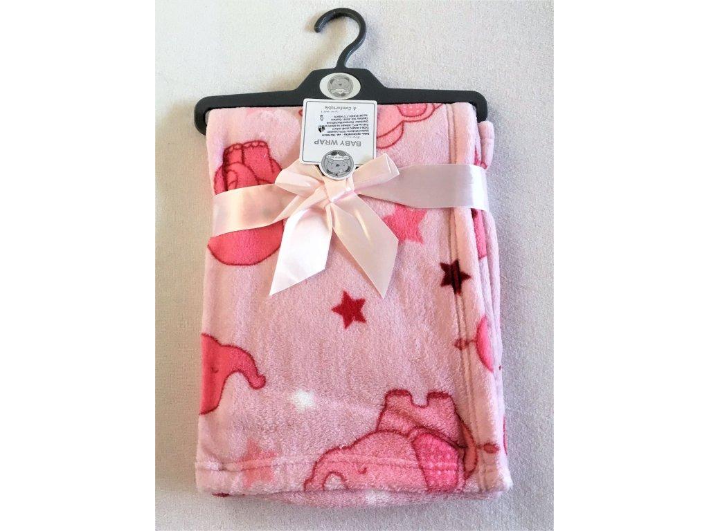 baby wrap růžová