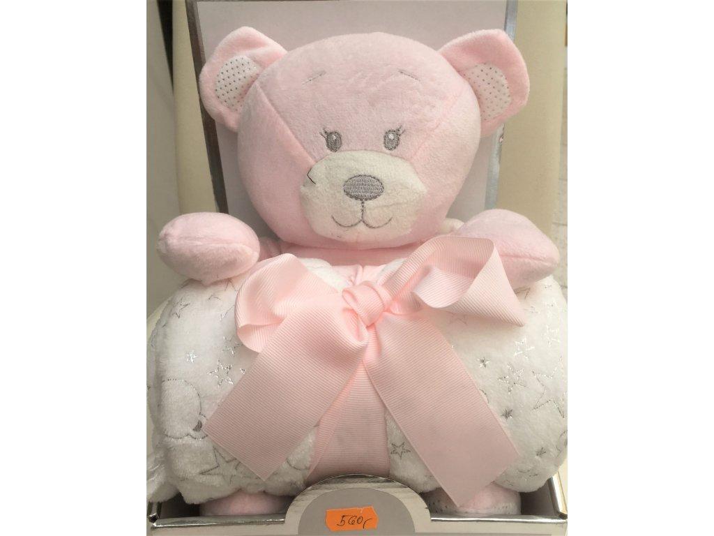 set medvídek růžový