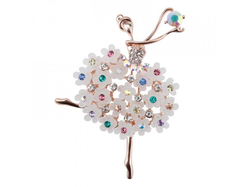 baletka květy