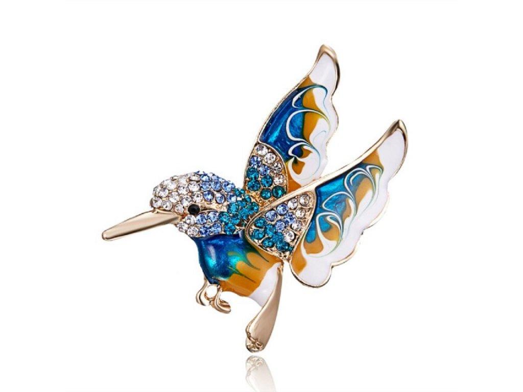 kolibřík modrý