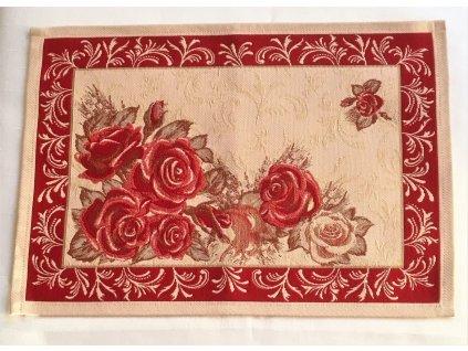 prostírání rúže červená M