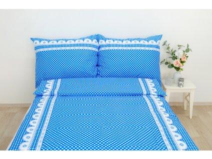 povlečení bavlna modré