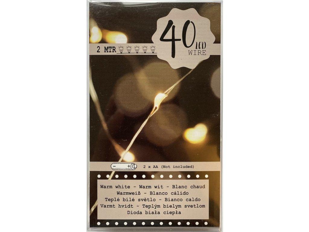 Světelný řetěz 40 LED