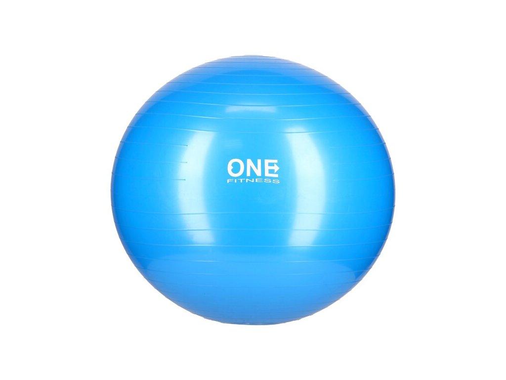 Gymnastický míč ONE Fitness Gym Ball 10 modrý, 65 cm