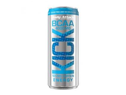 Body Attack BCAA Kick 4000 mg 330 ml BCAA 4000 mg + 105 mg kofeinu v plechovce