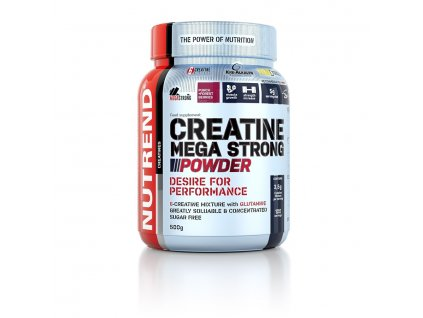 creatine mega strong powder 500g punch forest berries