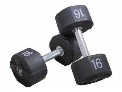 Profesionální pogumované jednoručky 1-60 kg