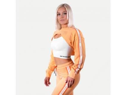Better Bodies Crop Mikina Chrystie Light Orange