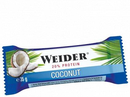 Weider 21% Protein Bar 35g Coconut proteinová tyčinka s kousky kokosu