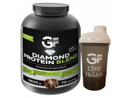 GF Nutrition Diamond Protein Blend 1800 g super kvalitní vícesložkový protein