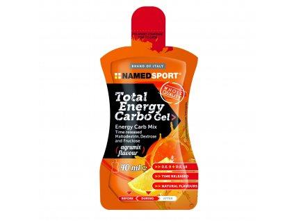 NAMEDSPORT Total Energy Carbo Gel 40 ml energetický gel obsahující maltodextrin dextrózu a fruktózu