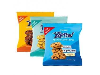 Weider Yippie! Protein Cookie Bites Malé Proteinové koláčky Yippie 50 g