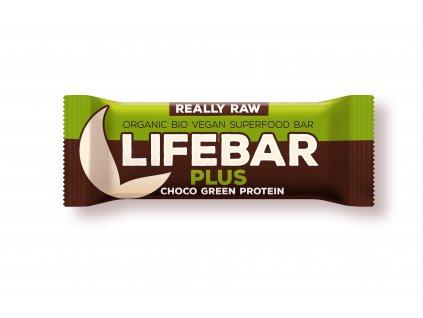 Lifefood Lifebar Plus čokoládová s proteinem BIO