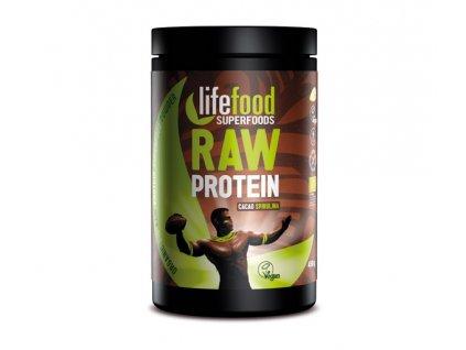 LifeFood Raw proteinová směs se superfoods - kakaová se spirulinou