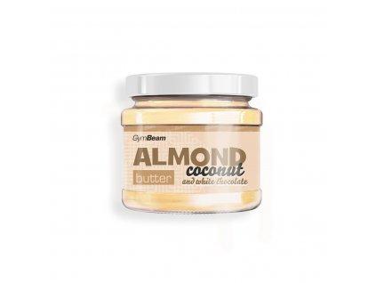 Mandlové máslo s kokosem a bílou čokoládou - GymBeam