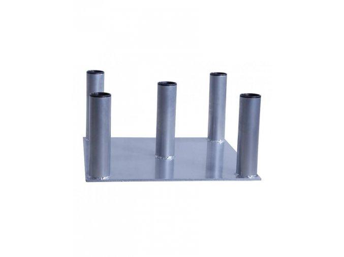 lifemaxx lmx1025 vertical bar rack 5 pcs silver 50