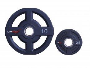 Olympijské kotouče, 50mm, polyuretan, Lifemaxx
