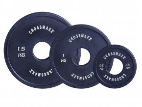 Olympijský kotouč malý, 50 mm guma, Crossmaxx (Váha 5 kg)