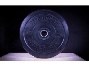 Černý bumper kotouč 25 kg