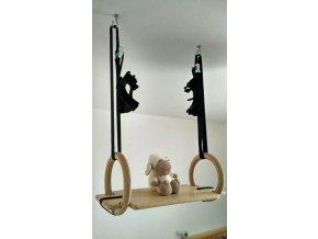 Dětské gymnastické kruhy a houpačka 2v1