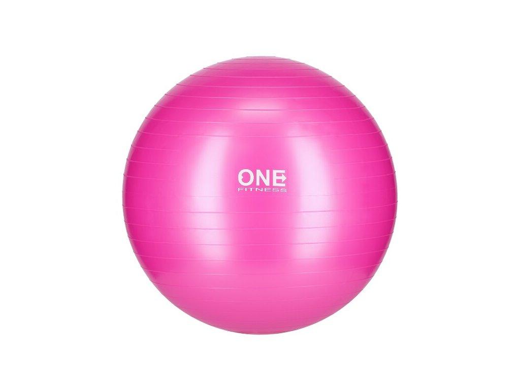 4820 gymnasticky mic one fitness gym ball 10 ruzovy 55 cm