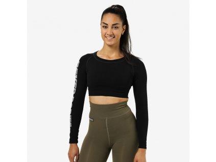 Better Bodies Crop-top Bowery Black (Barva Černá, Velikost L, Určeno pro Ženy)
