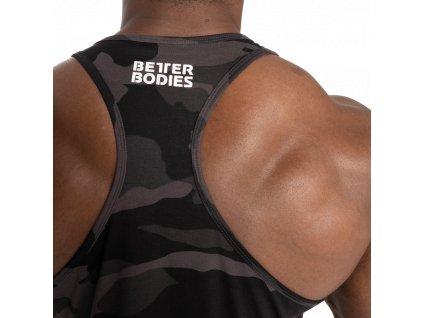 Better Bodies Tílko Essential T-Back Dark Camo (Barva Černá, Velikost L, Složení 100% bavlna)
