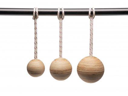Dřevěné koule na shyby