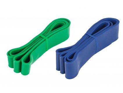 Sada na Muscle Up - zelená a tmavě modrá odporová guma