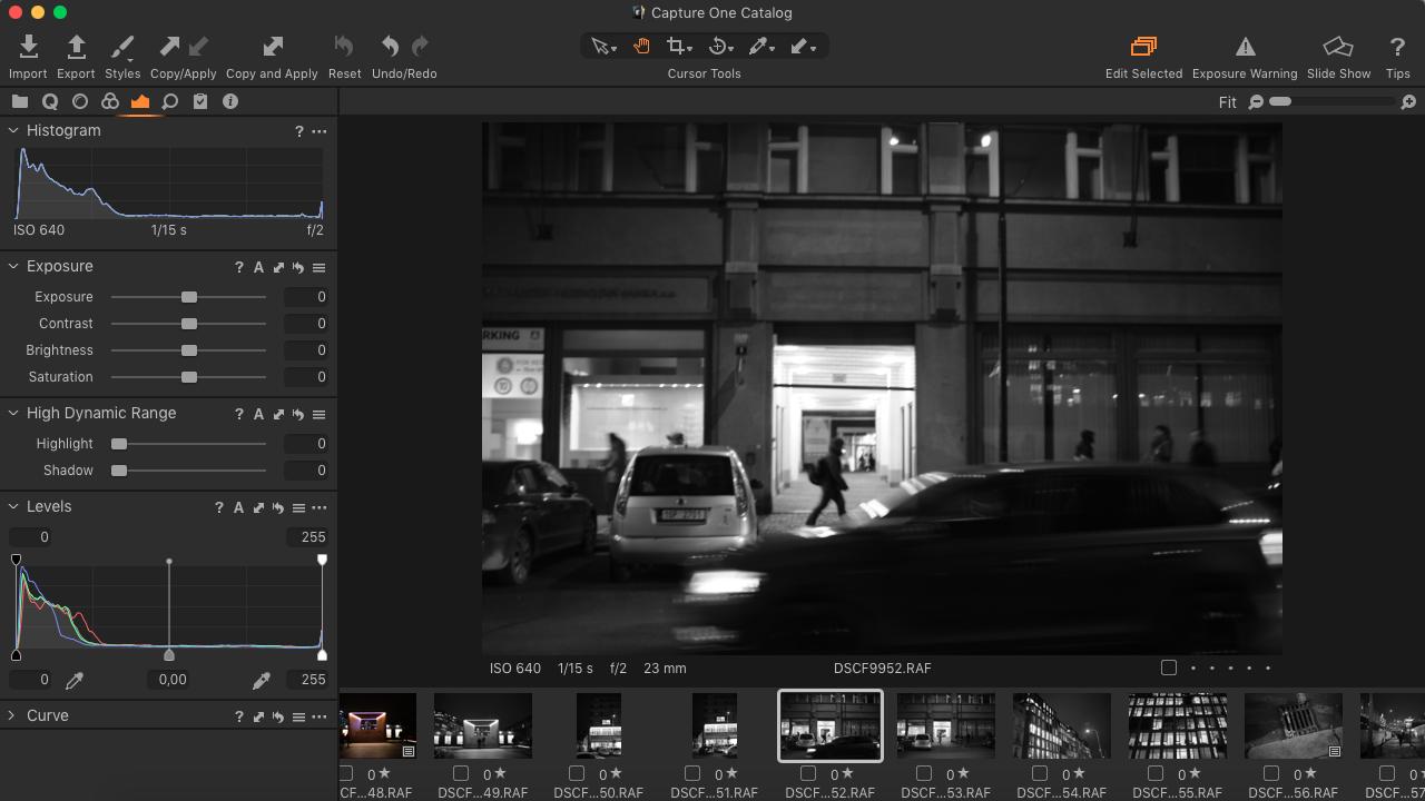 Capture ONE EXPRESS FUJIFLM 12 (Více variant úprav a klávesové zkratky)
