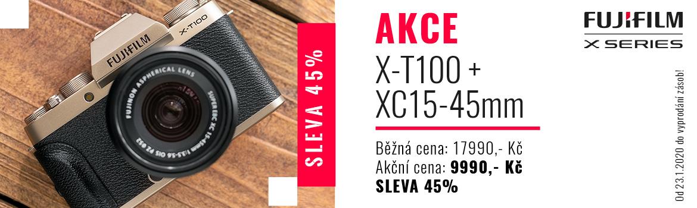 X-T100 za 9990 Kč
