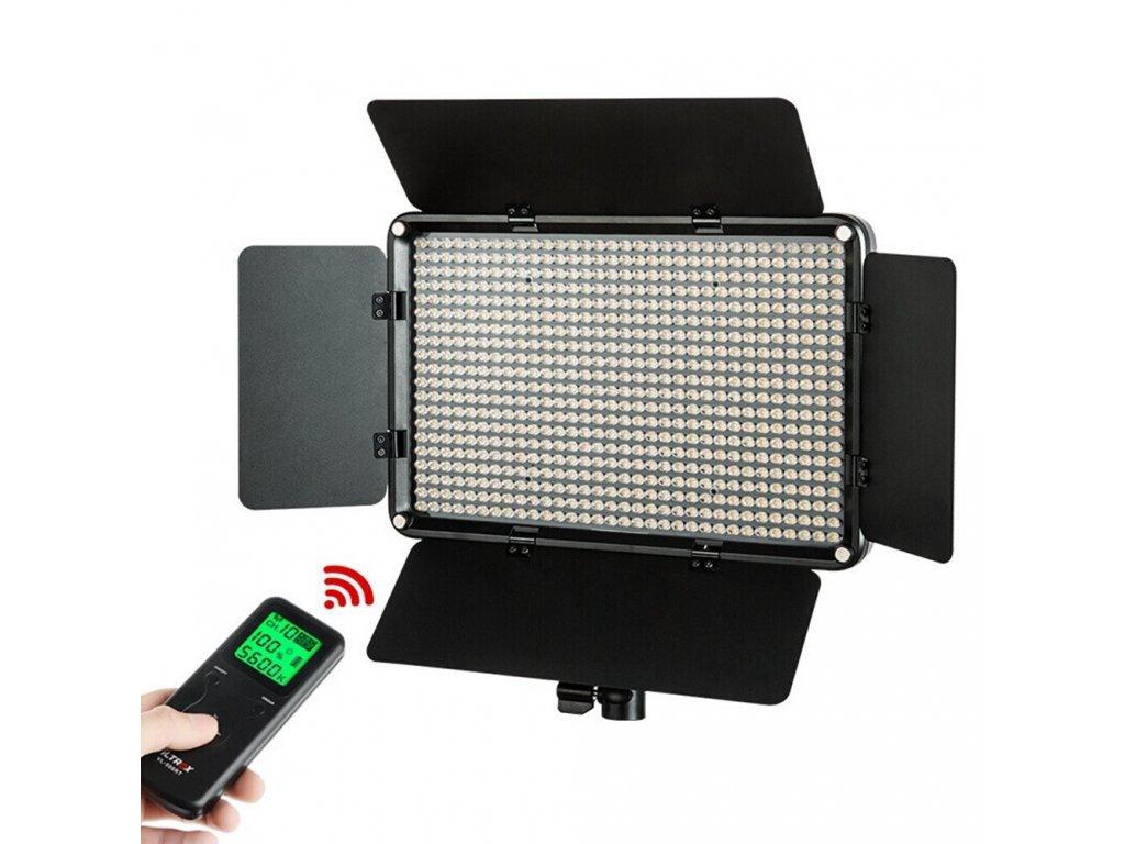 13601 7 viltrox vl d640t video led light bi color dimmable wireless remote panel 50w 4400lm for studio