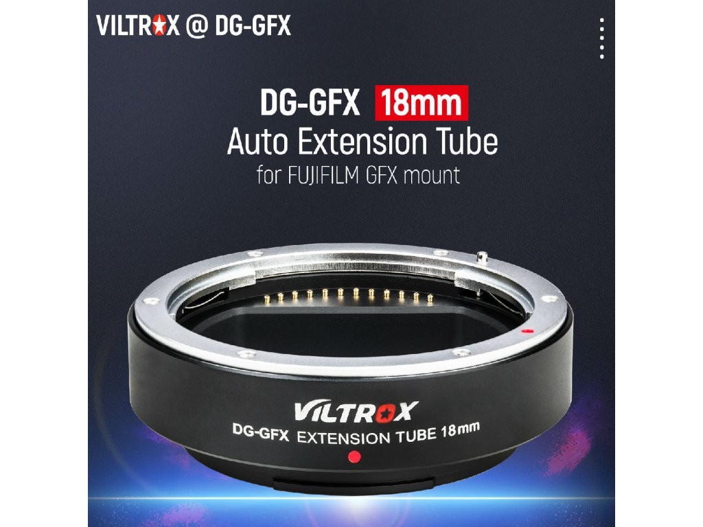 VILTROX GFX makrokroužek 18mm DG-GFX