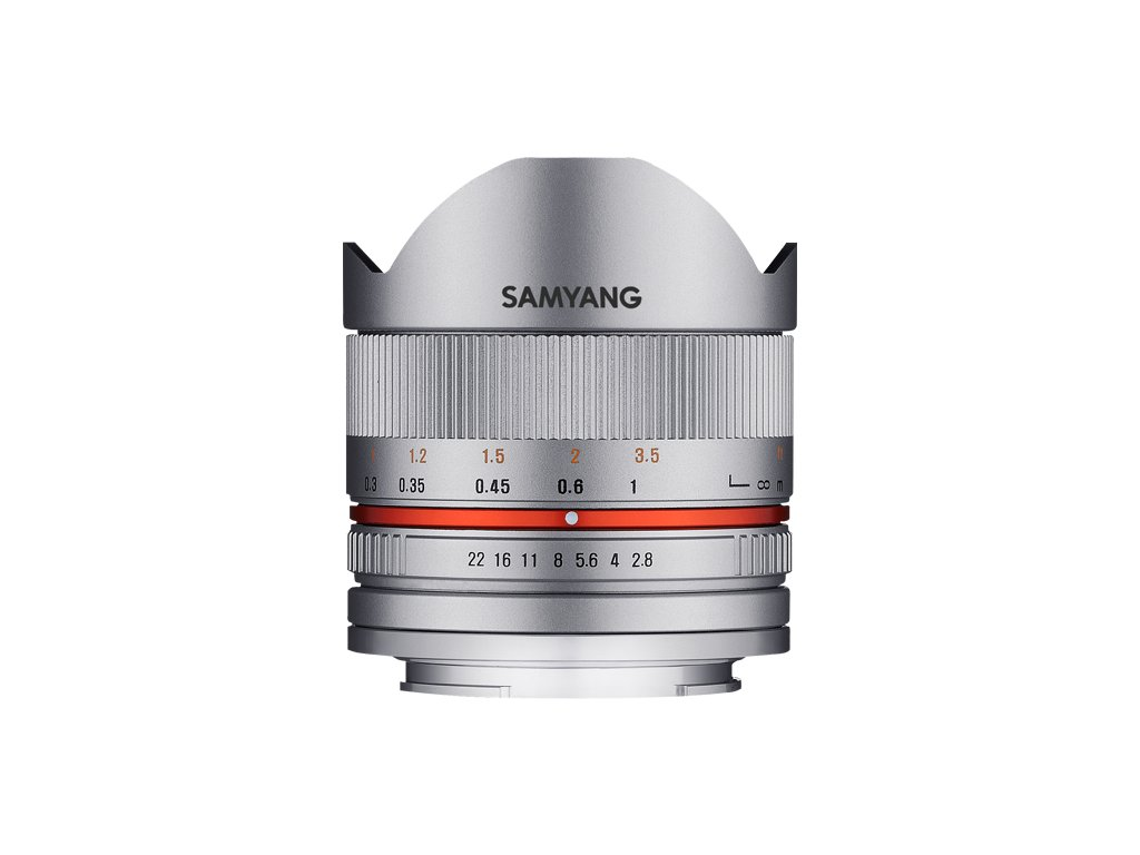 SAMYANG 8mm f/2.8 pro FUJI silver