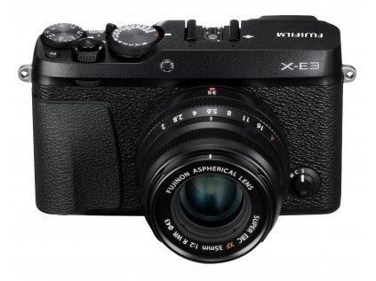 X E3 Black Front Up+XF35mmF2 BK