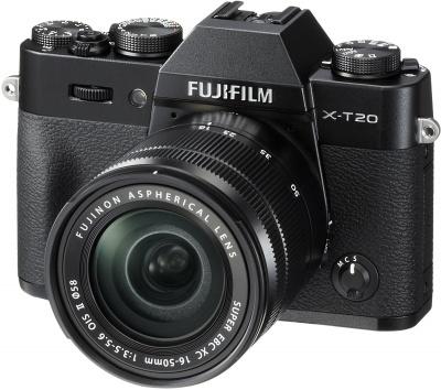 FUJIFILM X-T20 + 16-50mm f3,5-5,6 OIS + dárkový set v hodnotě 2 700,- Kč + CASHBACK 2500,-Kč Barva: černá