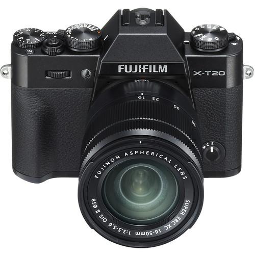 FUJIFILM X-T20 + 16-50mm f3,5-5,6 OIS + dárkový set v hodnotě 2 700,- Kč Barva: černá