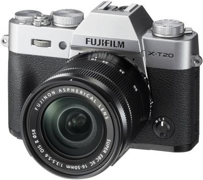 FUJIFILM X-T20 + 16-50mm f3,5-5,6 OIS + dárkový set v hodnotě 2 700,- Kč + CASHBACK 2500,-Kč Barva: stříbrná