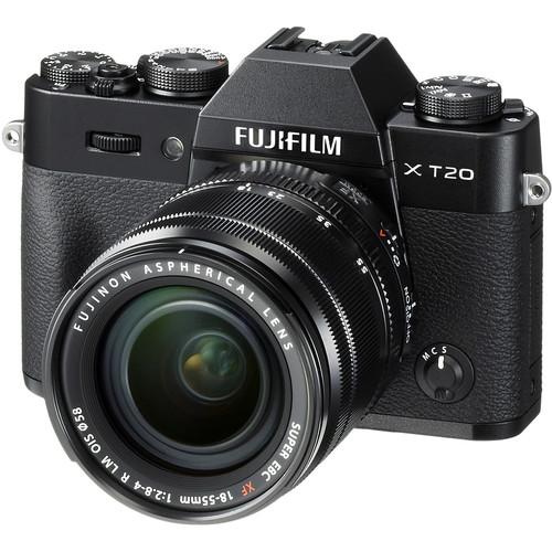 FUJIFILM X-T20 + XF18-55mm f2,8-4 + dárkový set v hodnotě 2 700,- Kč + CASHBACK 2500,-Kč Barva: černá