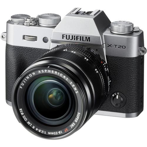 FUJIFILM X-T20 + XF18-55mm f2,8-4 + dárkový set v hodnotě 2 700,- Kč + CASHBACK 2500,-Kč Barva: stříbrná