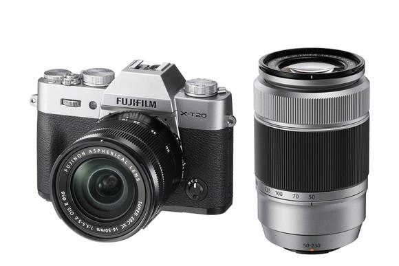 FUJIFILM X-T20 + 16-50mm f3,5-5,6 OIS + 50-230 f4.5-6.7 OIS II + dárkový set v hodnotě 4 000,- Kč Barva: stříbrná