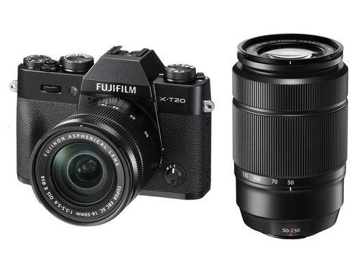 FUJIFILM X-T20 + XC 16-50mm/f3,5-5,6 OIS + 50-230mm/f4.5-6.7 OIS II + dárkový set v hodnotě 2 700,- Kč Barva: černá