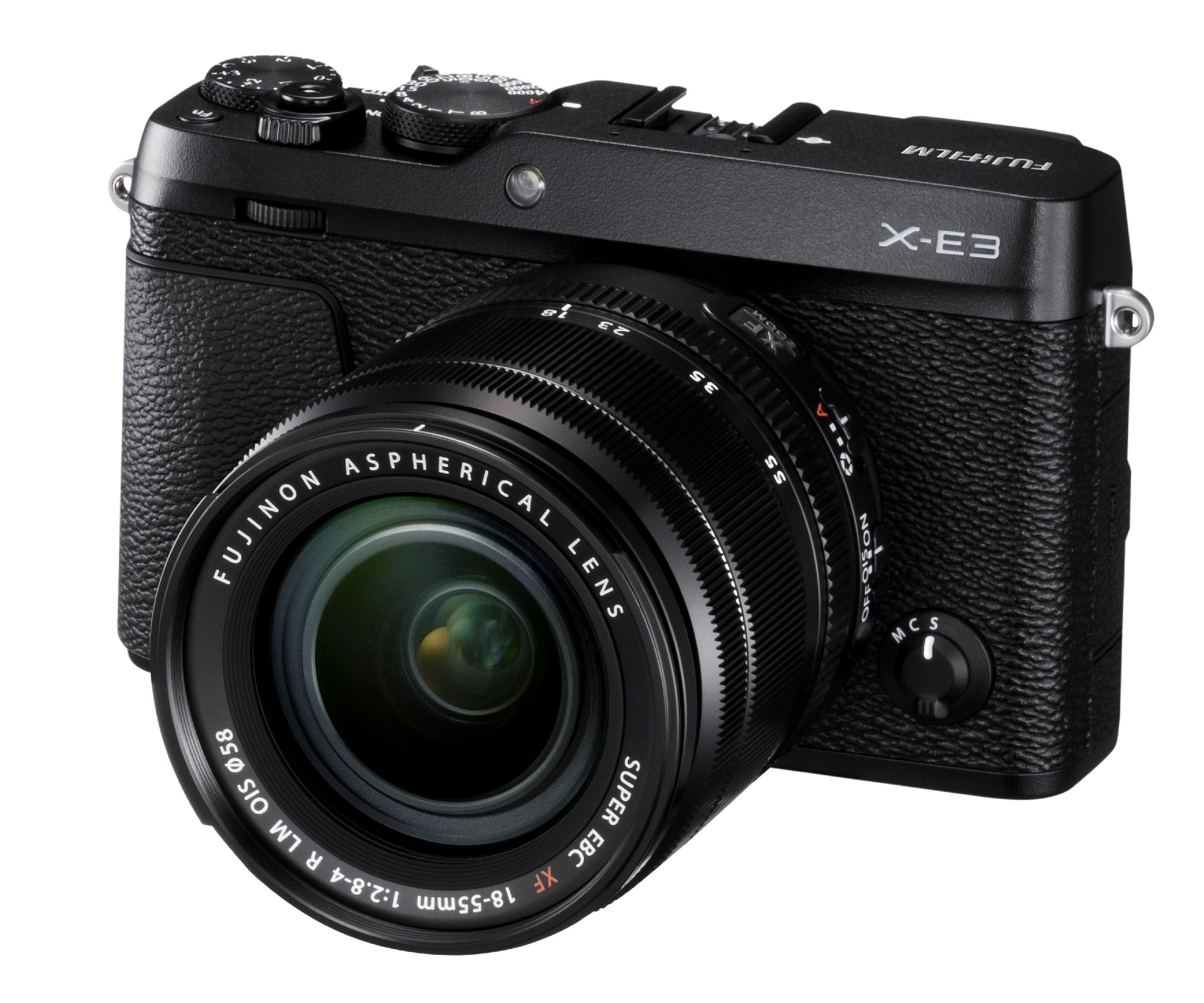FUJIFILM X-E3 + XF 18-55mm/f2.8-4 CASHBACK 5200,- Kč + dárkový set v hodnotě 4 000,- Kč Barva: černá