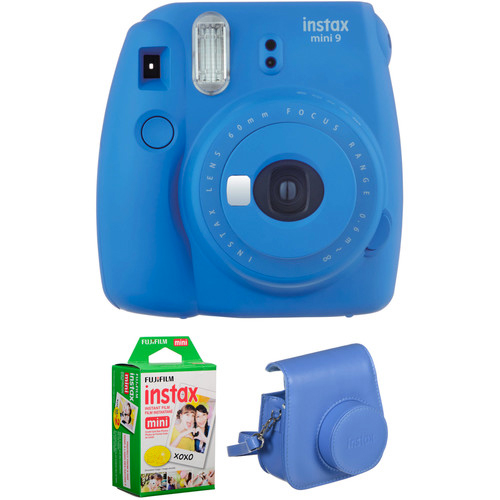 INSTAX MINI 9 FILM AND CASE KIT Barva: Cobalt Blue